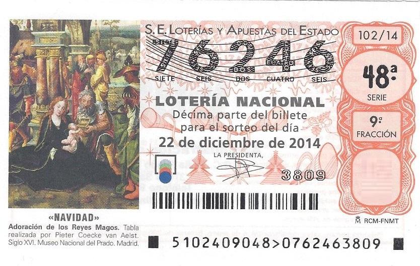 Loteria Motoclub navidad 2014